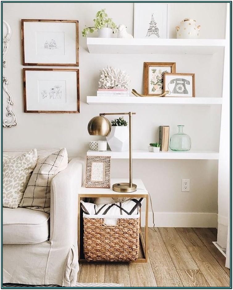 Floating Shelves Living Room Shelf Decor Ideas