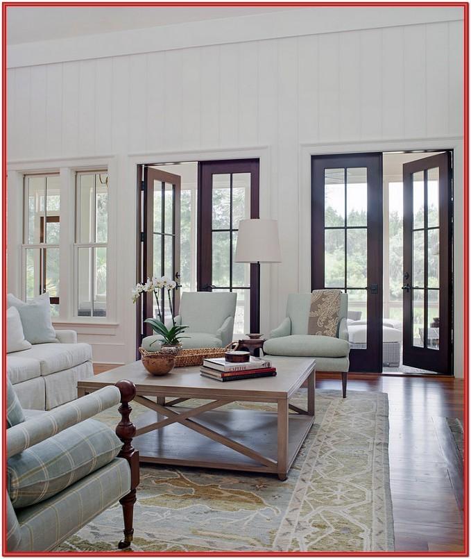 French Door Living Room Ideas