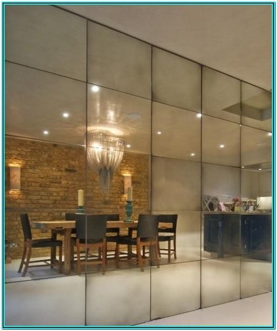 Full Wall Mirror Design For Living Room