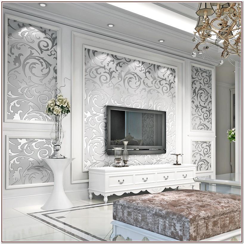 Gold Luxury Wallpaper For Living Room