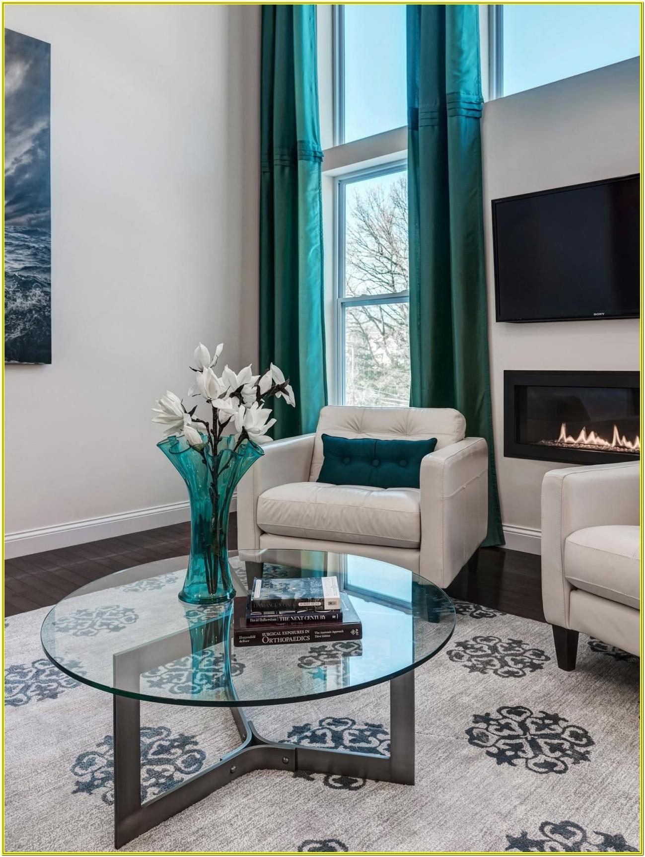 Gray And Aqua Living Room Ideas