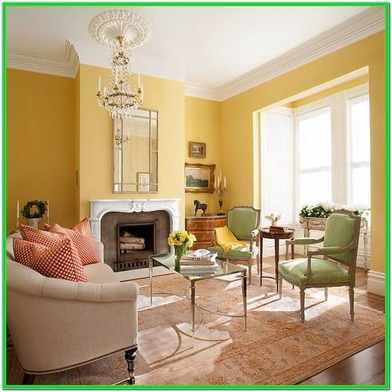 Green And Yellow Color Scheme Living Room