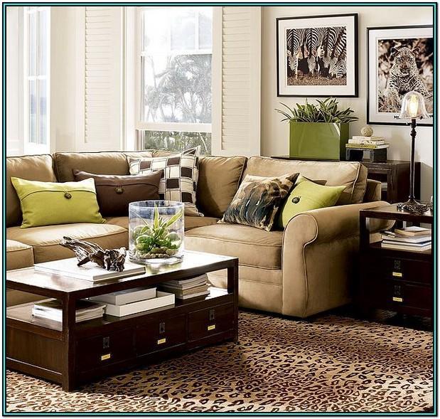 Green Living Room Ideas Brown Sofa