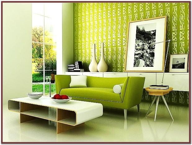 Green Wallpaper Ideas For Living Room