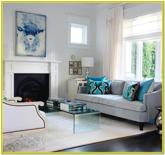 Grey And Aqua Living Room Ideas