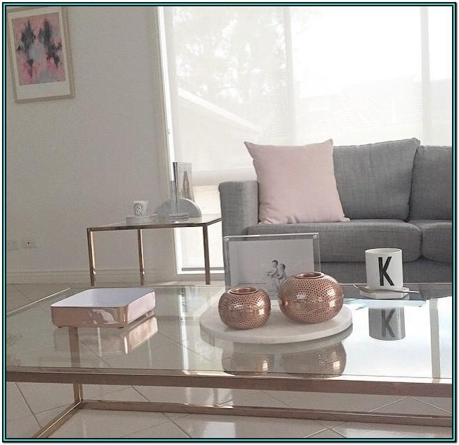 Grey And Rose Gold Living Room Decor Ideas