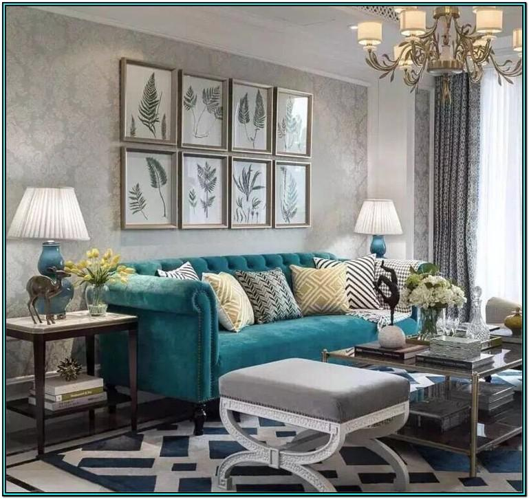 Grey And Turquoise Living Room Decor Ideas