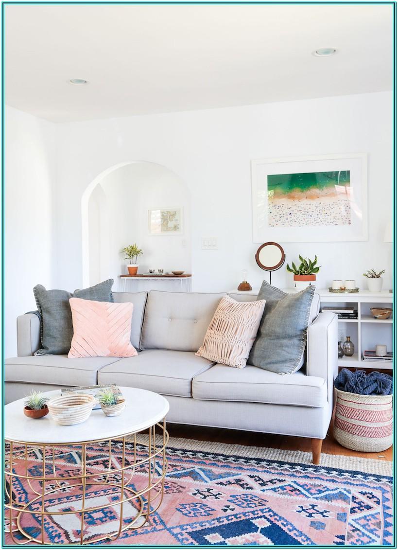 Grey Couch Modern Boho Living Room
