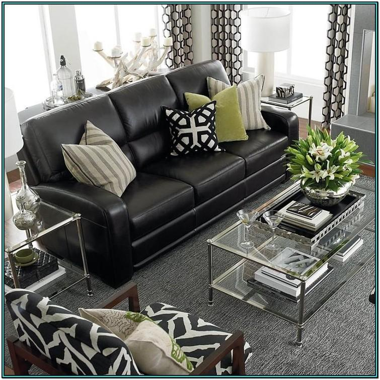 Grey Living Room Ideas With Black Leather Sofa