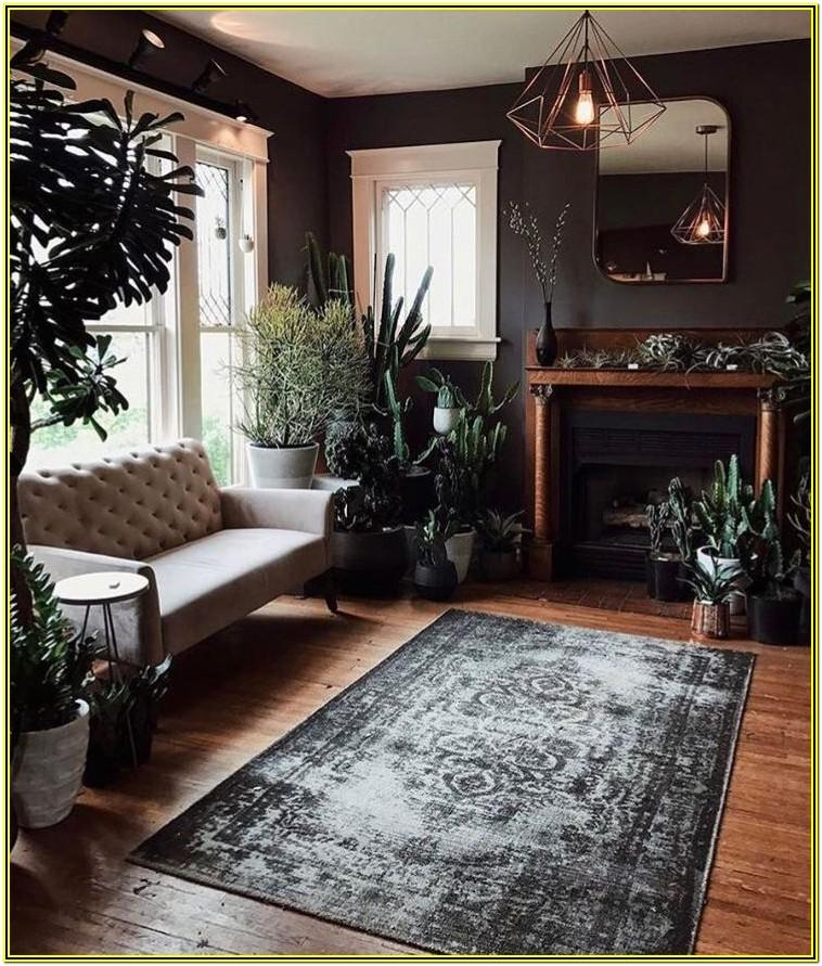 Grey Living Room Ideas With Plants