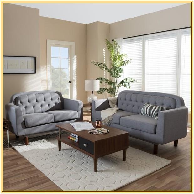 Grey Mid Century Modern Living Room Furniture
