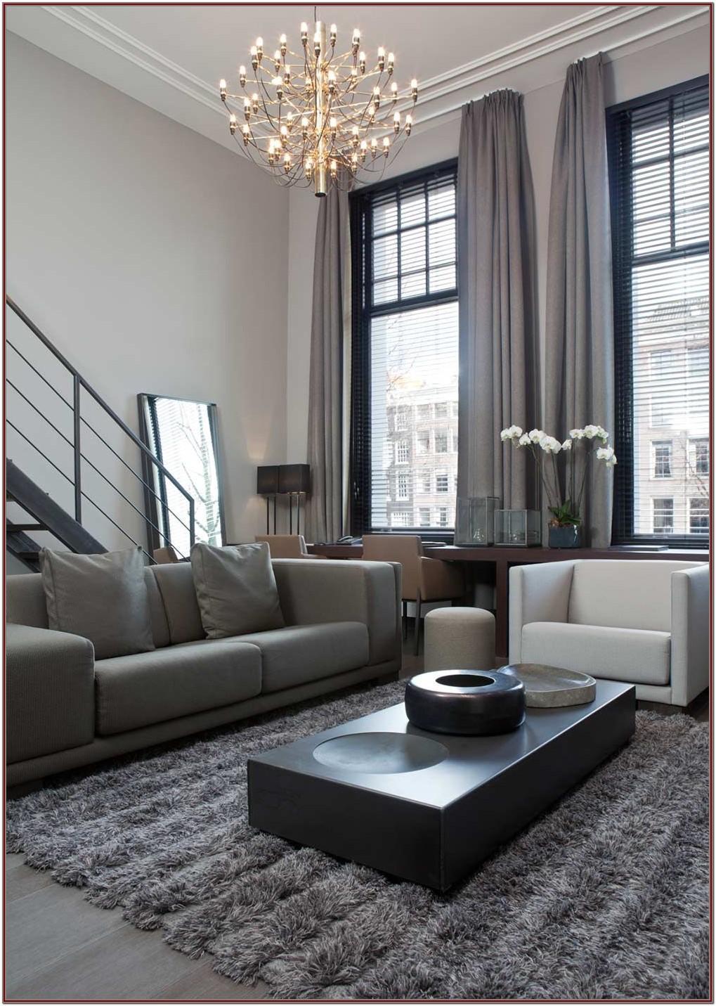 Grey Modern Living Room Interior Design Ideas