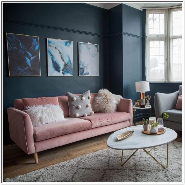 Grey Pink And Blue Living Room Ideas