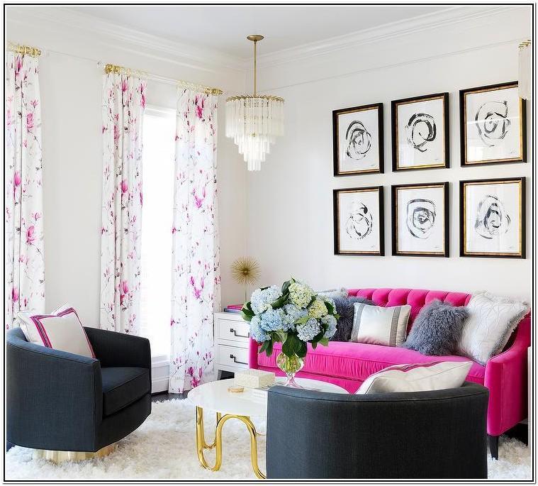 Hot Pink Sofa Living Room Ideas
