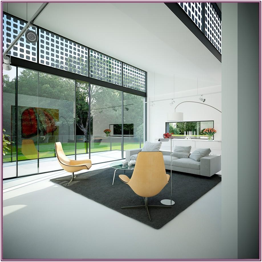 Interior House Living Room Glass Design