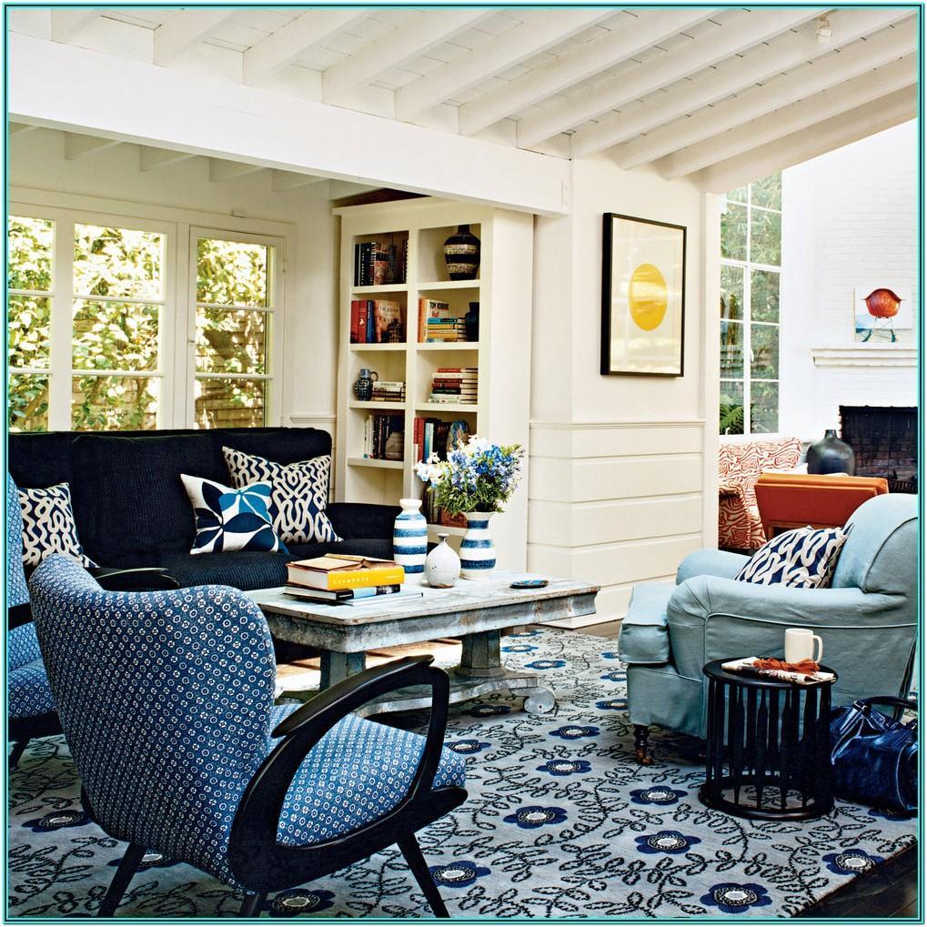 Interior Modern Blue Sofa Living Room
