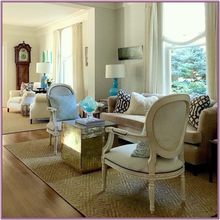 Jute Rug In Formal Living Room