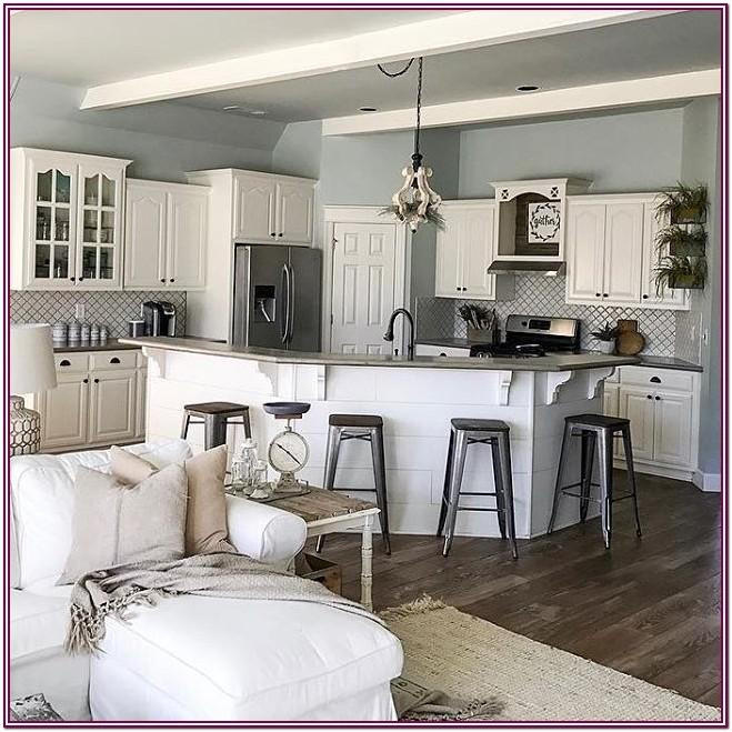 Kitchen Living Room Gray Paint Colors