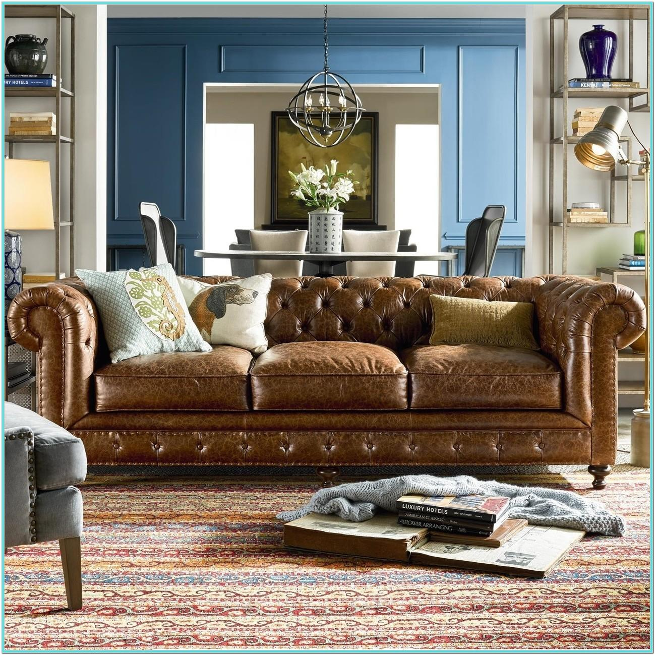 Leather Chesterfield Sofa Living Room Ideas