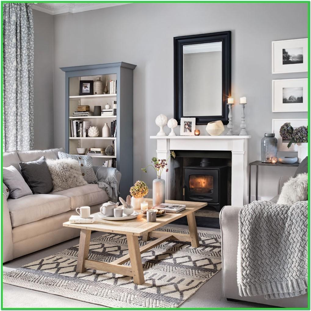 Light Blue Living Room With Grey Furniture