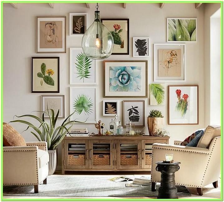 Living Room 3 Photo Frames On Wall Arrangement