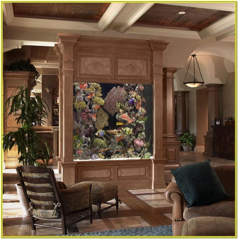 Living Room Aquarium Design Ideas