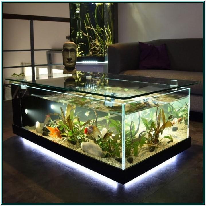 Living Room Aquarium Table Stand Design