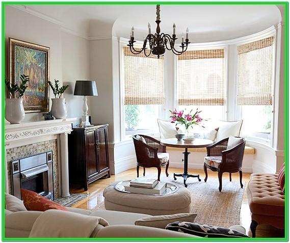 Living Room Bay Window Decor