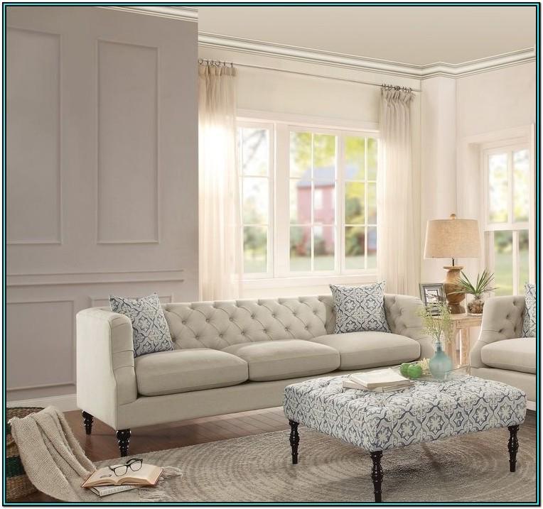 Living Room Beige Sofa Set