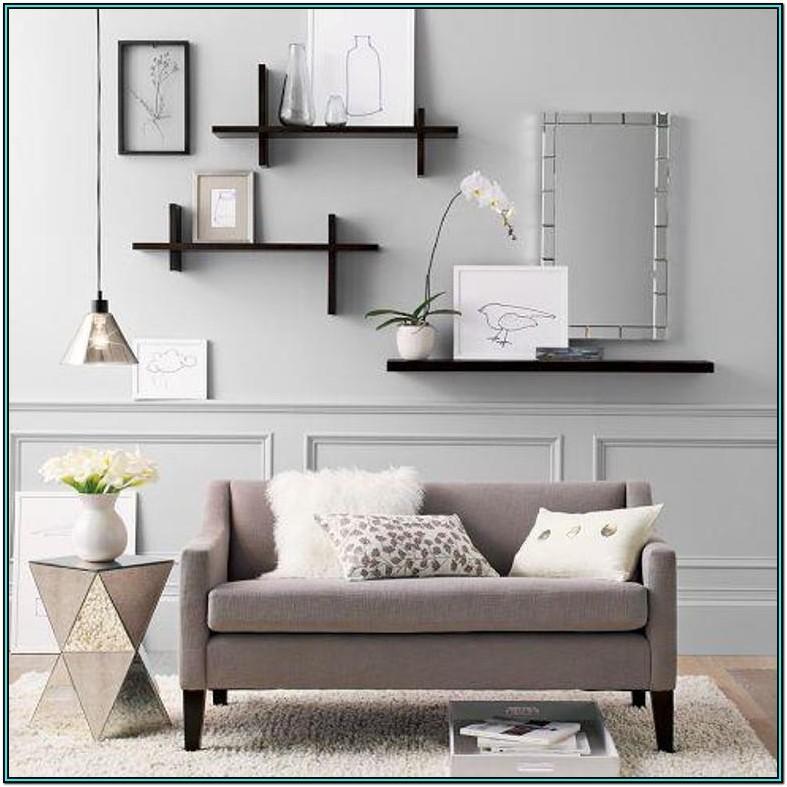Living Room Black Floating Shelves Ideas