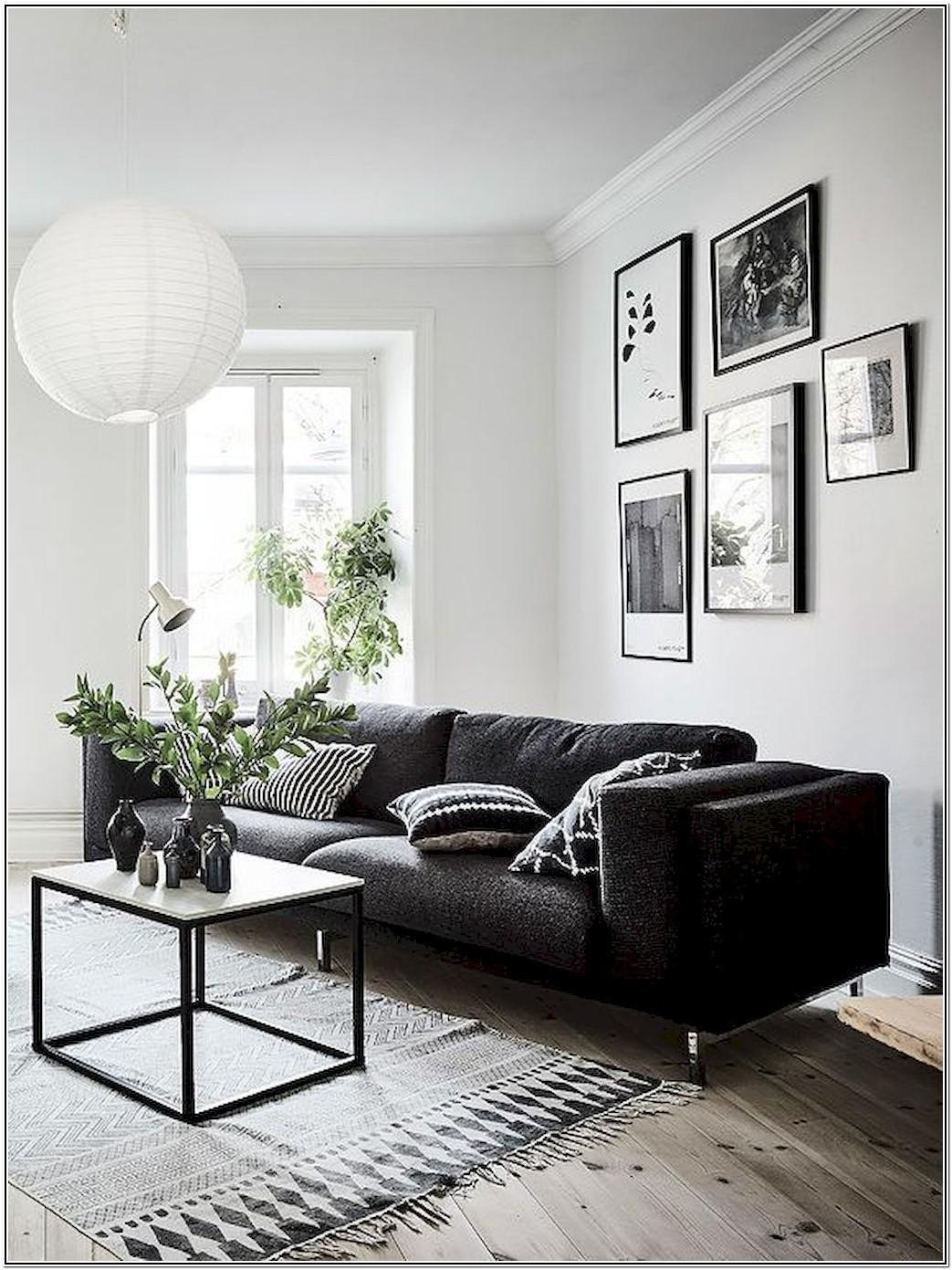Living Room Black Sofa Interior Design Ideas