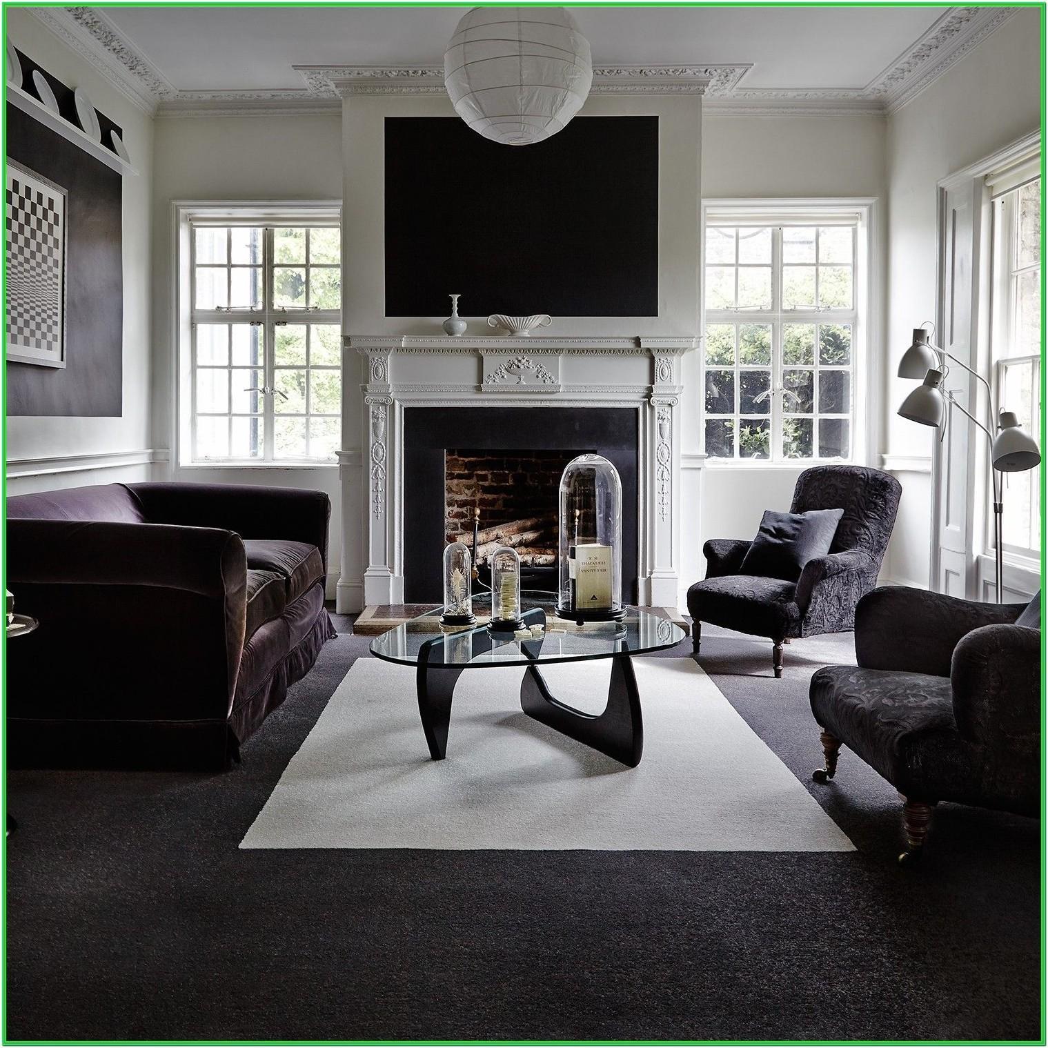Living Room Black Wall To Wall Carpet