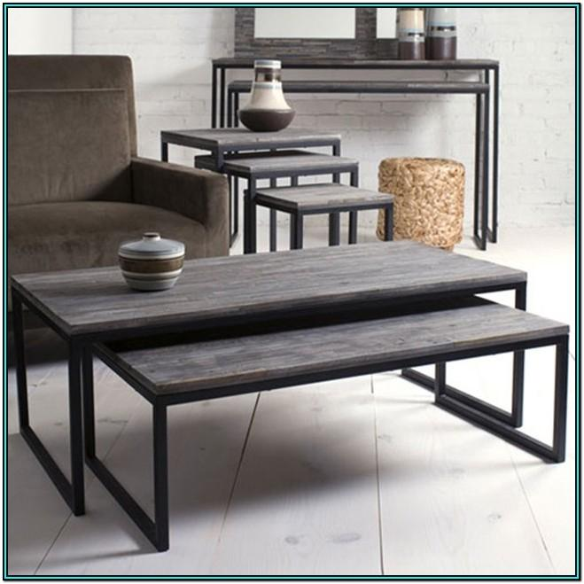 Living Room Coffee Table With Stools