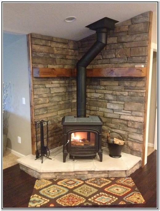 Living Room Corner Wood Burning Stove Ideas