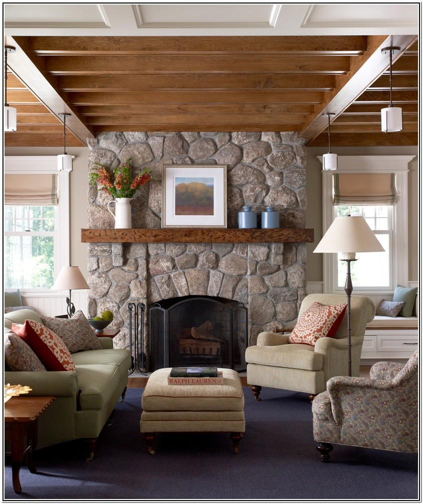 Living Room Decorating Ideas With Stone Fireplace