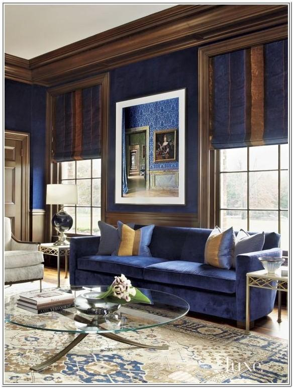 Living Room Design Ideas Blue Brown