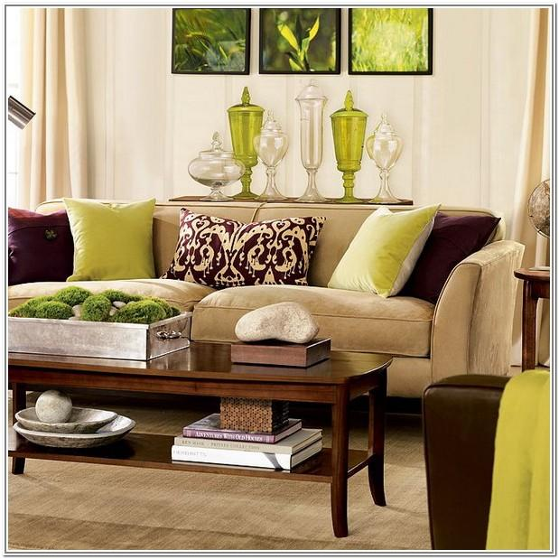 Living Room Design Ideas Brown And Green