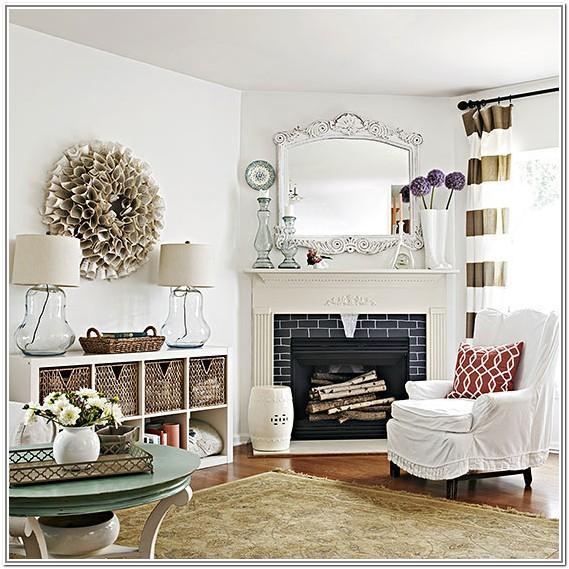Living Room Design Ideas Corner Fireplace