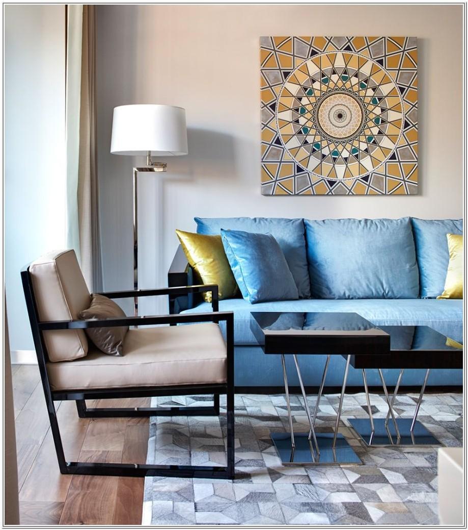 Living Room Design Ideas For Blue Sofas