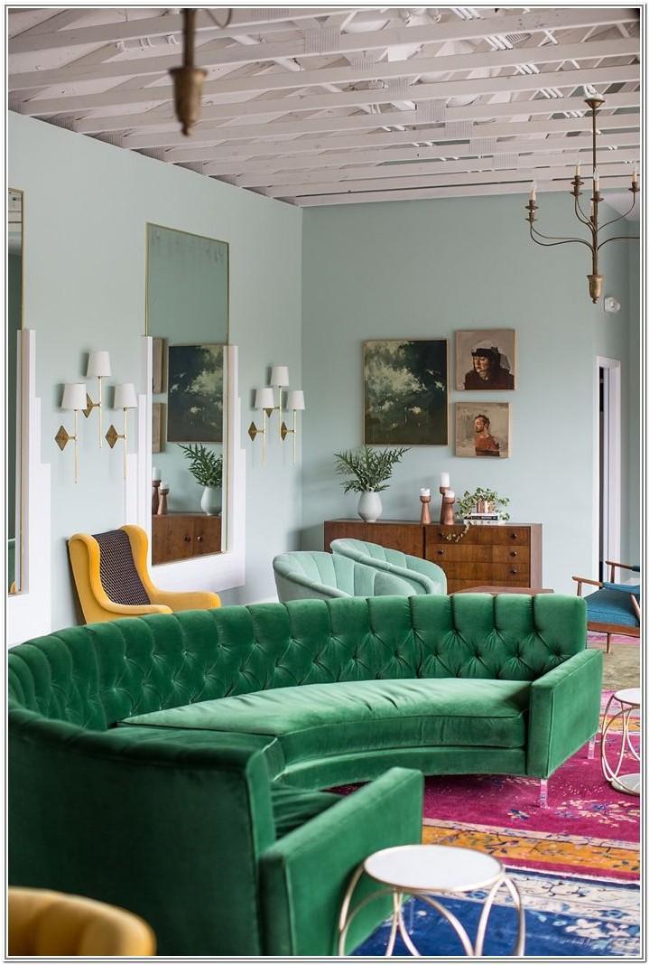 Living Room Design Ideas Green Sofa