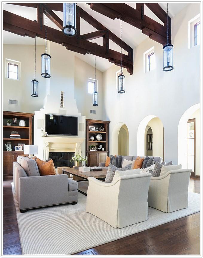 Living Room Design Ideas High Ceiling