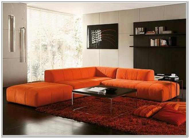 Living Room Design Ideas Orange Sofa