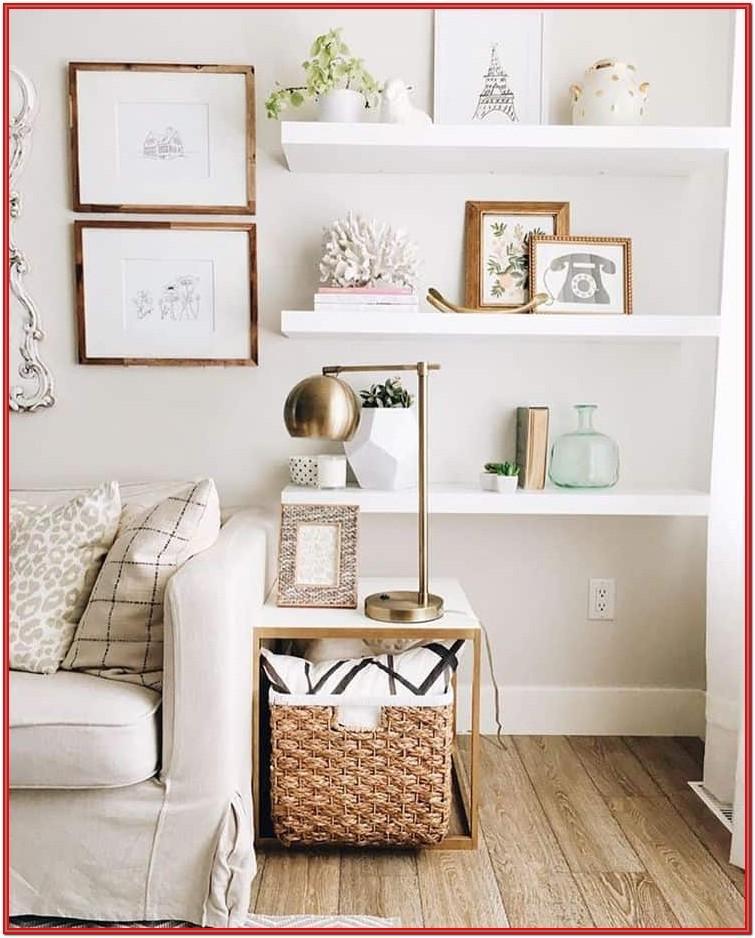 Living Room Design Ideas Using Shelves
