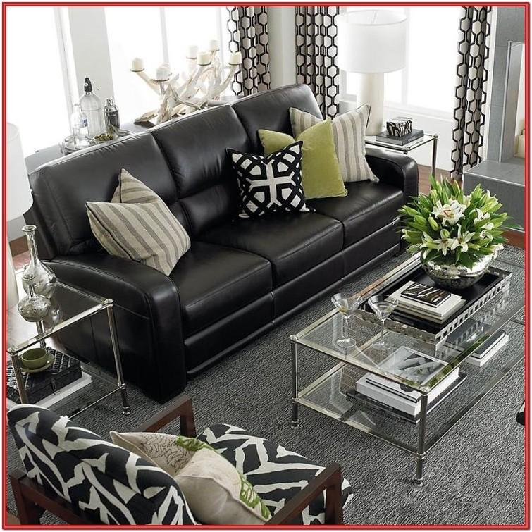 Living Room Design Ideas With Black Sofa