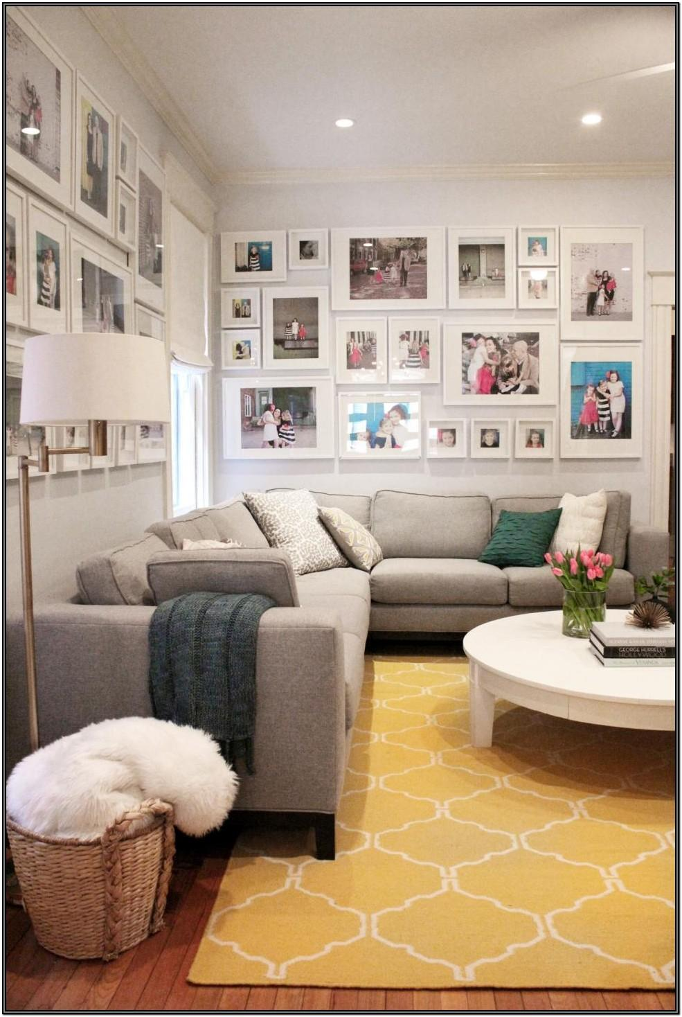 Living Room Family Picture Wall Ideas