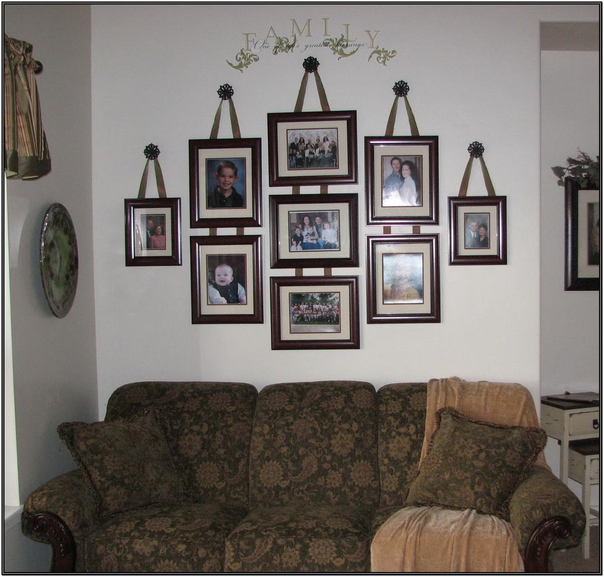 Living Room Family Wall Decor Ideas