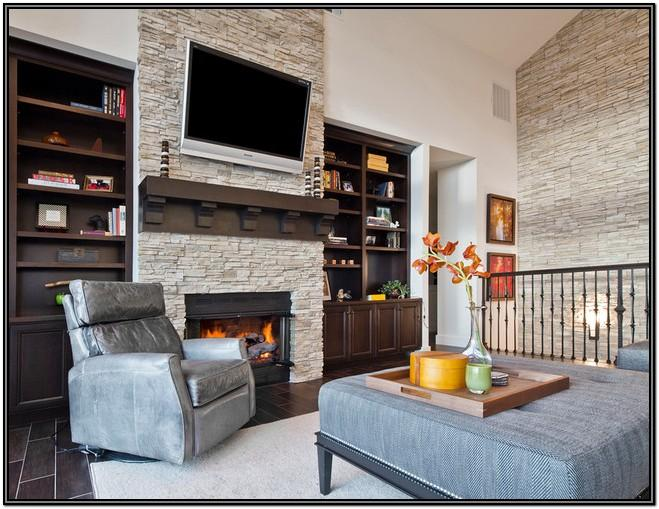 Living Room Fireplace Accent Wall Ideas