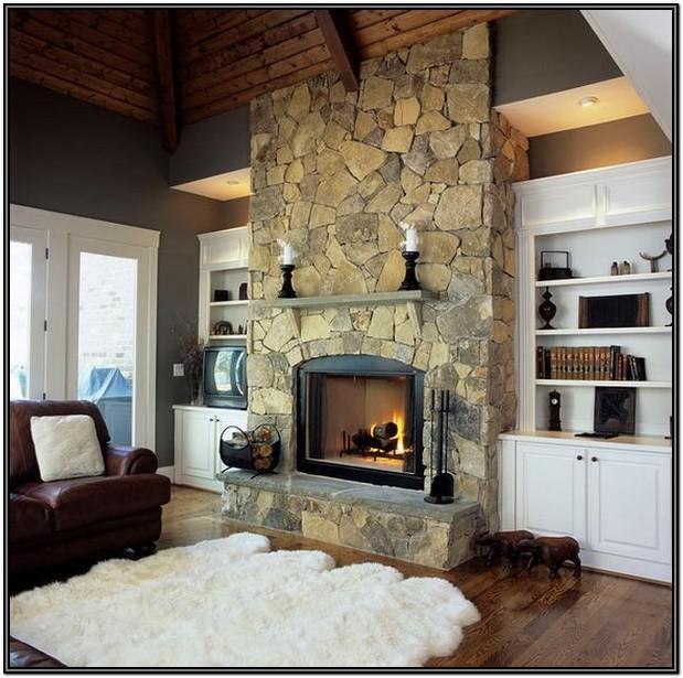 Living Room Fireplace Wall Ideas
