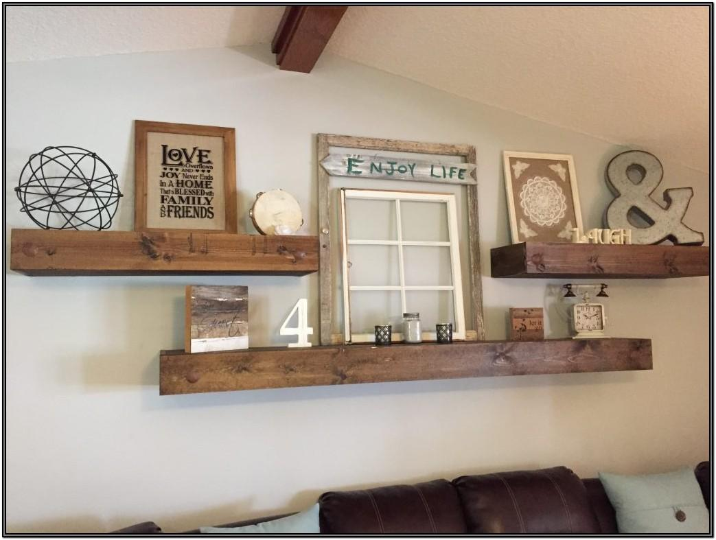 Living Room Floating Shelf Ideas