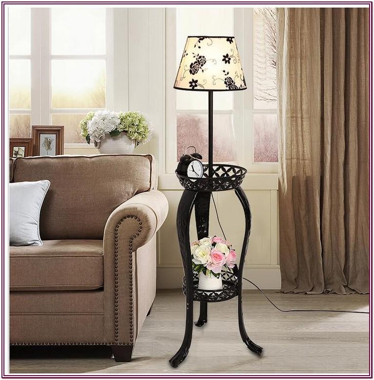 Living Room Floor Lamp With Shelves
